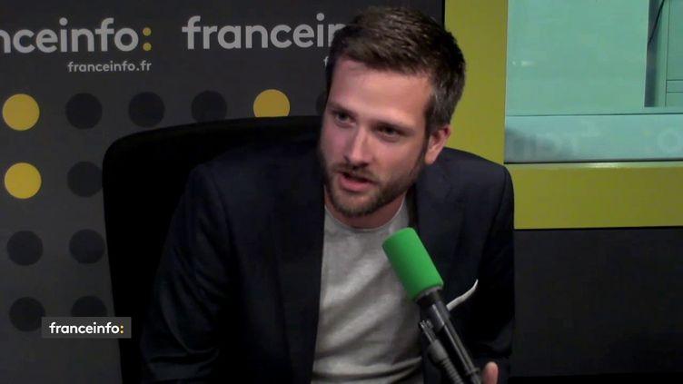 Christophe Pierrel, ancien chef de cabinet adjoint de François Hollande à l'Elysée, le8 août 2018. (RADIO FRANCE / FRANCEINFO)