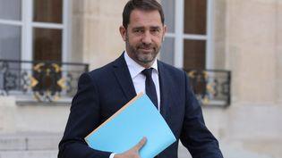 Christophe Castaner, à la sortie de l'Elysée, le 18 octobre 2017. (LUDOVIC MARIN / AFP)