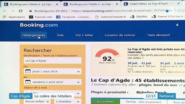 Hôtellerie : les professionnels du Cap d'Agde se lèvent contre Booking