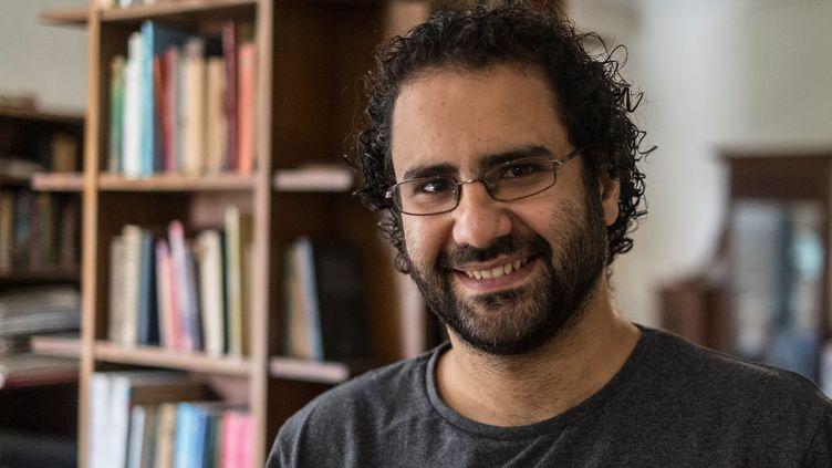 Le blogueur et militantAlaa Abdel Fattah chez lui en mai 2019. (KHALED DESOUKI / AFP)