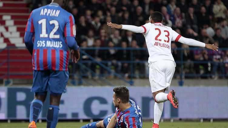 Anthony Martial buteur contre Caen (CHARLY TRIBALLEAU / AFP)