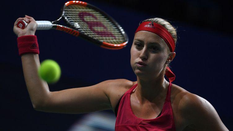Kristina Mladenovic lors du tournoi de Moscou. (ALEXEY FILIPPOV / SPUTNIK)