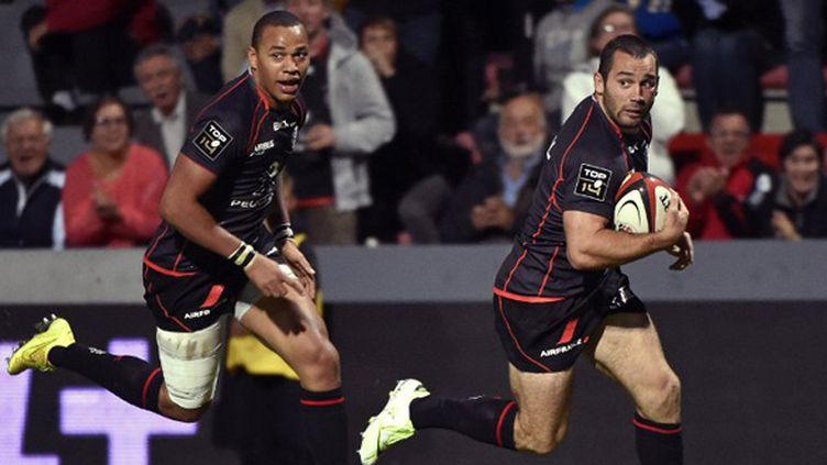 Gaël Fickou et Jean-Marc Doussain (Stade Toulousain) (PASCAL PAVANI / AFP)