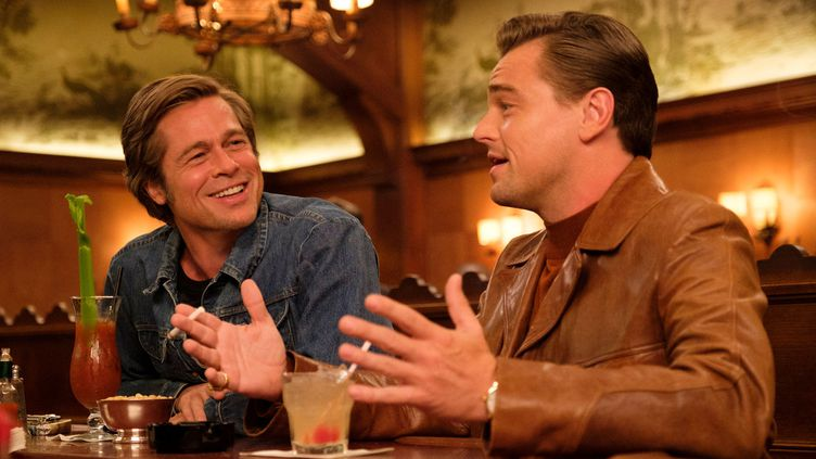 """Brad Pitt et Leonardo DiCaprio dans le film """"Once Upon a Time...In Hollywood"""" de Quentin Tarantino. (Sony Pictures Releasing France)"""