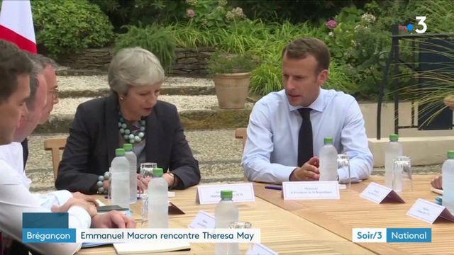 Brégançon : Emmanuel Macron rencontre Theresa May