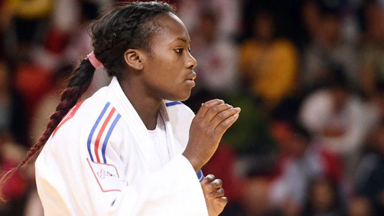 La judokate française Clarisse Agbegnenou