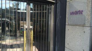 Le siège du groupe Vivarte, dans le 19e arrondissement, à Paris, le 7 avril 2015. (MARC DANA / FRANCE 3)