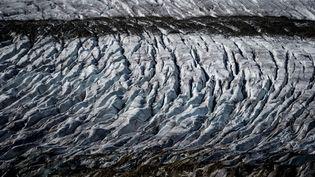 Le glacier de l'Aletsch, dans les Alpes suisses, le 1er octobre 2019. (FABRICE COFFRINI / AFP)