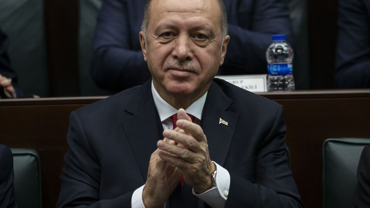 Le président turc Recep Tayyip Erdogan à Ankara, le 14 janvier 2020. (BINNUR EGE GURUN KOCAK / ANADOLU AGENCY)