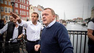 Emmanuel Macron et le Premier ministre danois,Lars Lokke Rasmussen. (HO / DANISH PRIME MINISTER'S OFFICE)