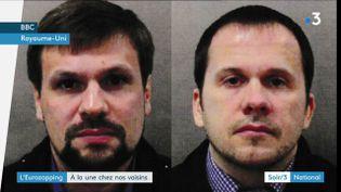 Les deux suspects de l'affaire Skripal (France 3)