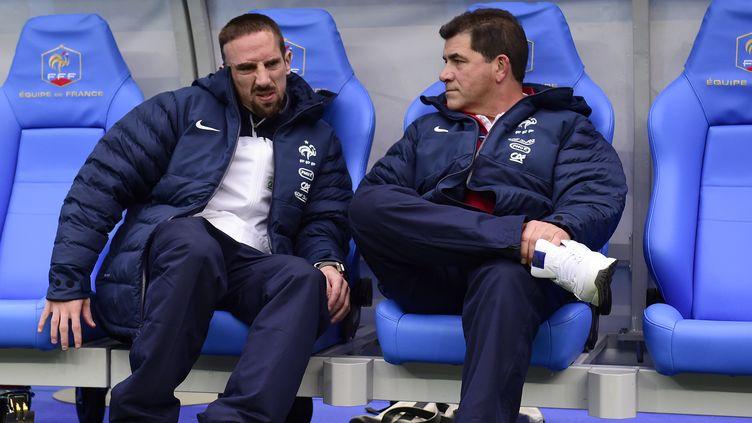Franck Ribéry est arrivé à Clairefontaine avec des douleurs dorsales (FRANCK FIFE / AFP)