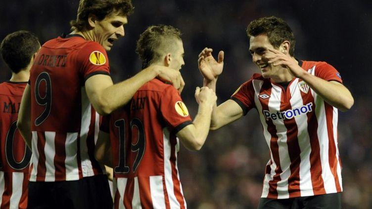 Llorente et Muniain espèrent qualifier l'Athletic Bilbao (RAFA RIVAS / AFP)