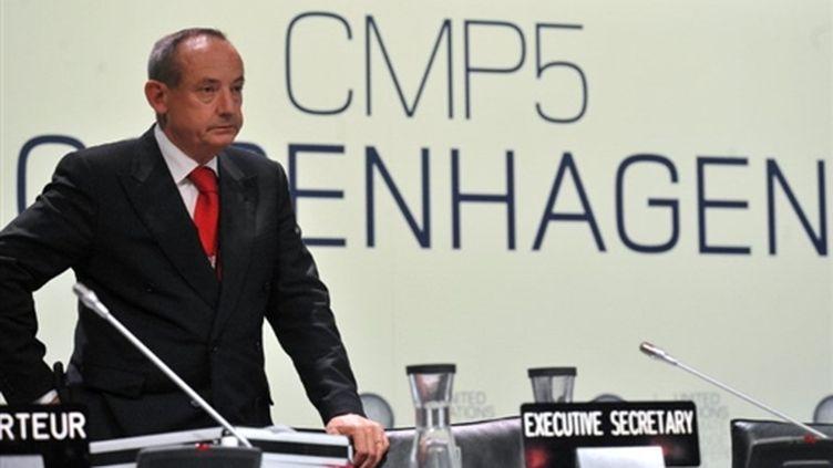 Yvo de Boer, plus haut responsable de l'ONU chargé du climat, lors du sommet de Copenhague le 19 décembre 2009. (AFP)