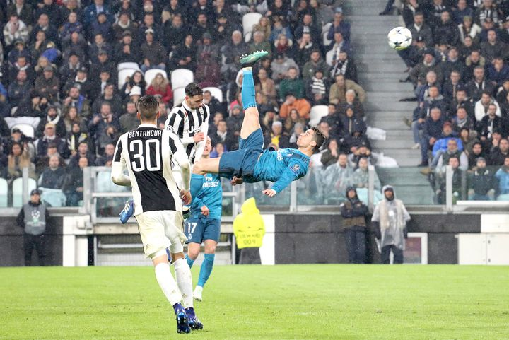 Le ciseau merveilleux de Cristiano Ronaldo contre la Juventus en 2018 (MASSIMILIANO FERRARO / NURPHOTO)