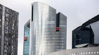 Le siège de la Société Générale dans le quartier d'affaires de a Défense (Hauts-de-Seine). (CHRISTOPHE MORIN / MAXPPP)