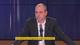 Laurent Berger, secrétaire général de la CFDT, était l'invité de franceinfo jeudi 27 mai 2021. (FRANCEINFO / RADIO FRANCE)
