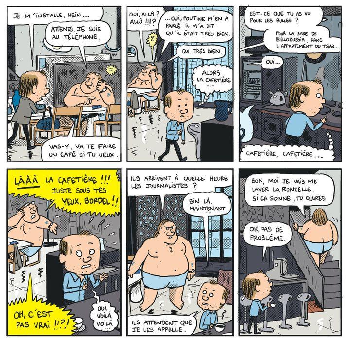 """Gérard, dans les pattes de Depardieu'"", page 12  (Mathieu Sapin / Dargaud)"