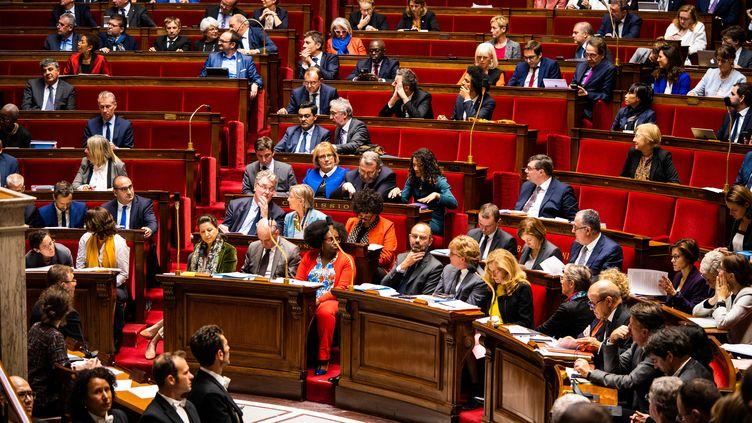 L'Assemblée nationale, le 22 octobre 2019 à Paris. (XOSE BOUZAS / HANS LUCAS / AFP)
