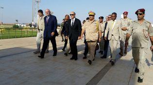 Arrivée de Jean-Yves Le Drian à Benghazi, en Libye, lundi 4 septembre 2017. (ISABELLE LABEYRIE / RADIO FRANCE)