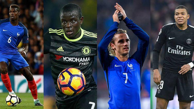 Pogba, Kanté, Griezmann et Mbappé, les futurs Ballons d'Or ?