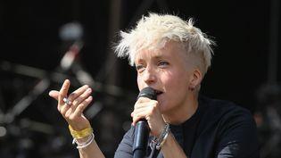 La chanteuse et musicienne Jeanne Added à la Fête de l'Humanité, à la Courneuve, samedi 15 septembre 2018.  (Michel Stoupak / NurPhoto / AFP)