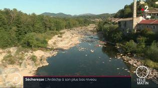La rivière Ardèche, en septembre 2019. (France 2)