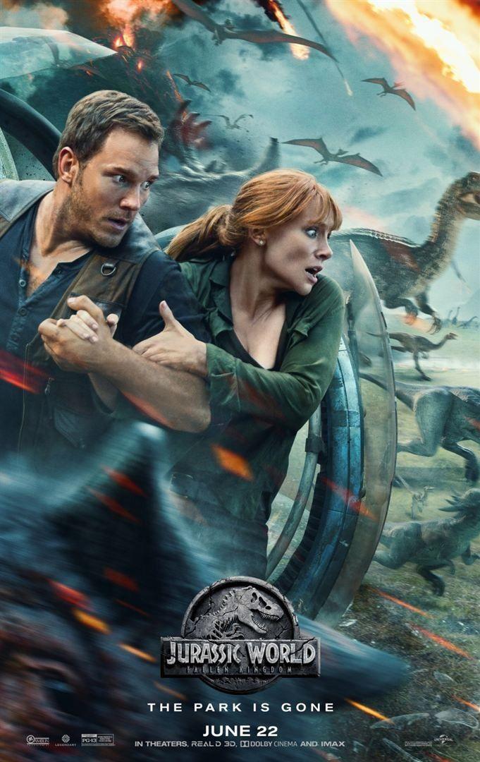 """""""Jurassic World : Fallen Kingdom"""" : affiche américaine  ( Universal Pictures International)"""