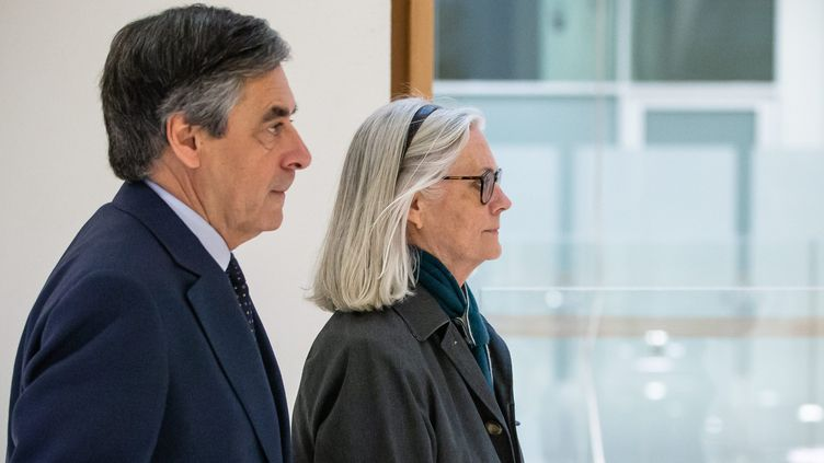 François et Penelope Fillon au dernier jour de leur procès en mars 2020. (AURELIEN MORISSARD / MAXPPP)