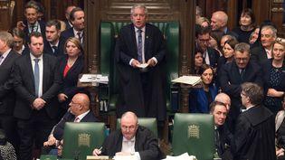 John Bercow siège en tant que président de la Chambre des communes, le 29 mars 2019. (MARK DUFFY / AFP)