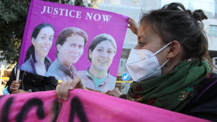 Rome. Manifestation de femmes turques le 25 mars 2021 contre le retrait de la Convention d'Istanbul. (PIERO TENAGLI / IPA / MAXPPP)