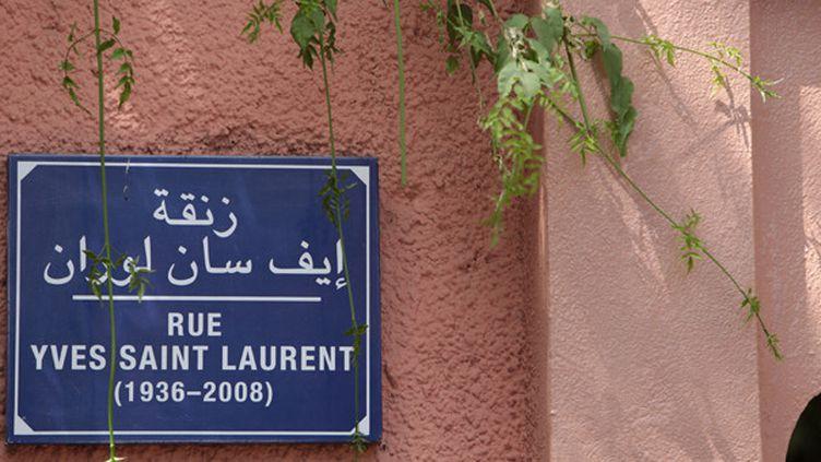 La rue Yves Saint Laurent à Marrakech  (Catherine Leblanc/AFP)