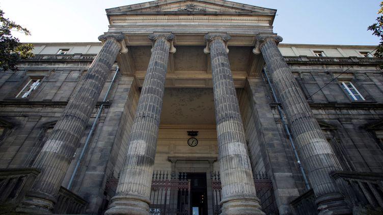 L'entrée du palais de justice de Limoges (Haute-Vienne), le 26 février. (PASCAL LACHENAUD / AFP)