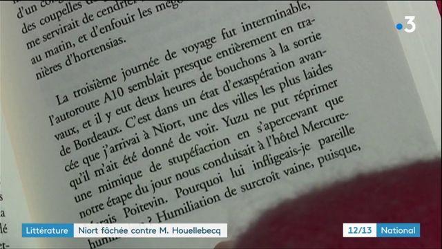 Littérature : Niort fâchée contre Michel Houellebecq