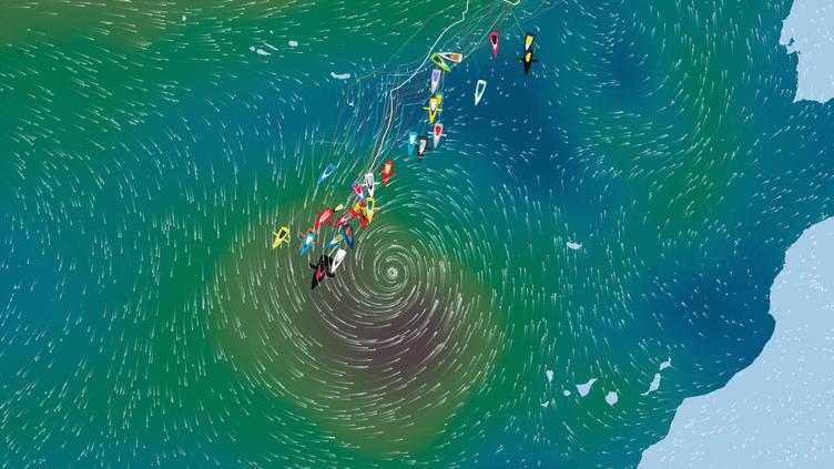 Les skippers s'approchent de la dépression tropicale Thêta