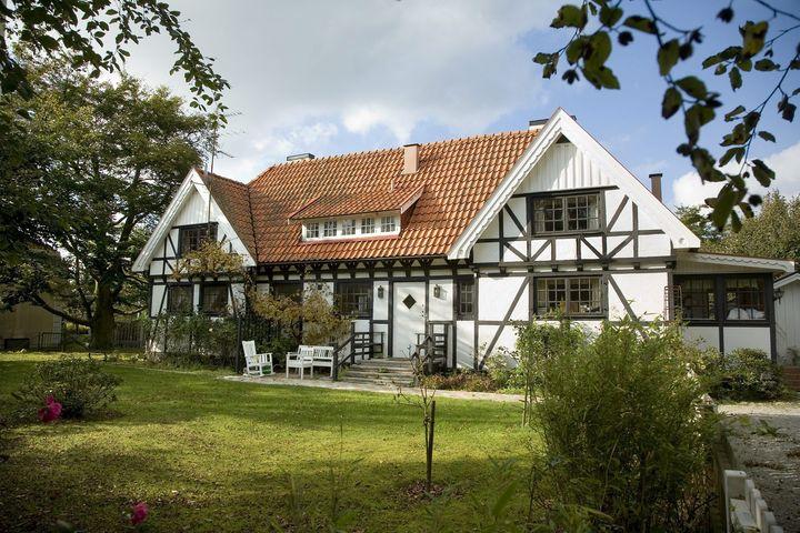 La maison d'été de la ministre suédoiseMaria Borelius à Falsterbo (Suède), le 13 octobre 2006. (DRAGO PRVULOVIC / SCANPIX SWEDEN / AFP)