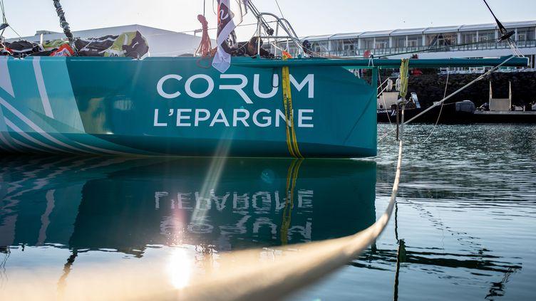 Le bateau Corum L'Epargne de Nicolas Troussel. (ELOI STICHELBAUT / POLARYSE)