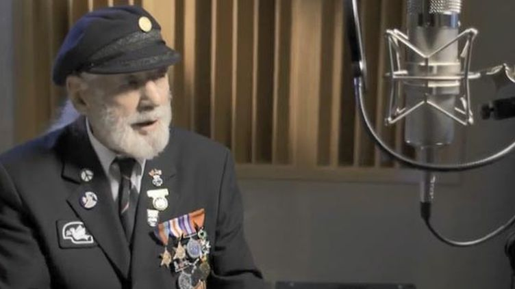 "Le vétéran anglais Jim Radford auteur du tube ""The Shores of Normandy"" (FRANCEINFO)"