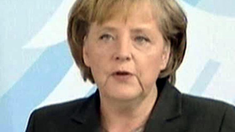 La chancelière, Angela Merkel (juin 2009). (France 2)