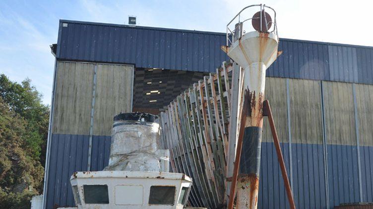 (Le chantier arrêté de la Calypso, à Concarneau © Maxppp)