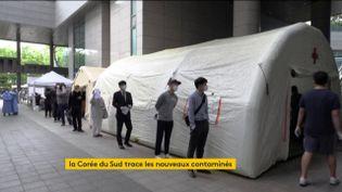 Dépistage du Covid-19 en Corée du Sud (FRANCEINFO)