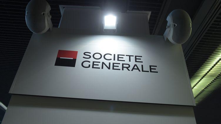 Le logo de la Société générale. (ERIC PIERMONT / AFP)