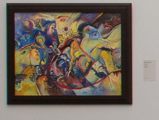 Toile de Kandinsky exposée puis retirée du Musée des Beaux-Arts de Gand pour expertise  (Musée des Beaux-Arts de Gand (Belgique))