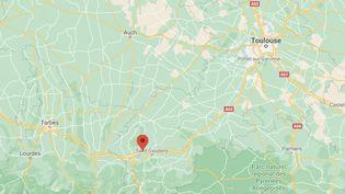 L'incendie a eu lieu à Villeneuve-de-Rivière, près de Saint-Gaudens, en Haute-Garonne, le vendredi 19 février. (CAPTURE D'ÉCRAN GOOGLE MAPS)