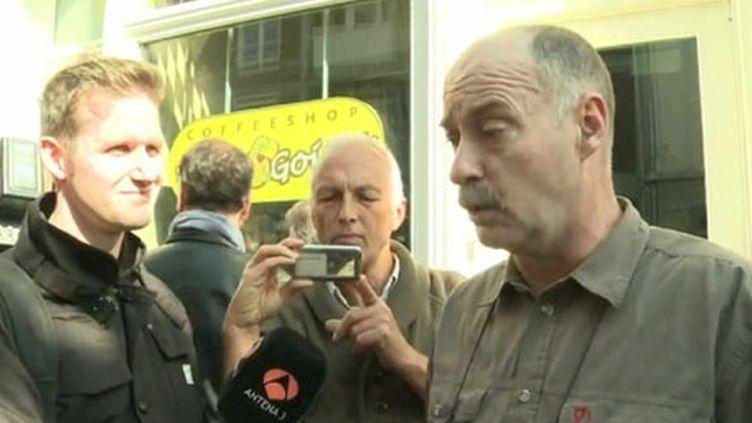 Le directeur d'un coffee-shop, à Maastricht, le 1er mai 2012 (FTV)