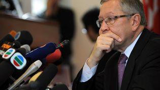 Le directeur du Fonds européen de stabilité financière, Klaus Regling, à Pékin (Chine), le 28 octobre 2011. (pp/RAB)