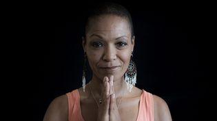 """Lisa Simone a trouvé sa voix et ses mots pour enregistrer """"All is well"""" au studio La Borie à Solignac  (PHOTOPQR/LE PARISIEN)"""