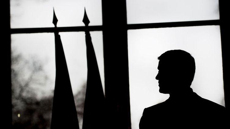 (Manuel Valls à Matignon pour ses vœux à la presse. © Chamussy/SIPA)