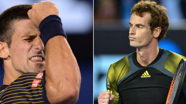 Novak Djokovic face à Andy Murray, deux grands combattants