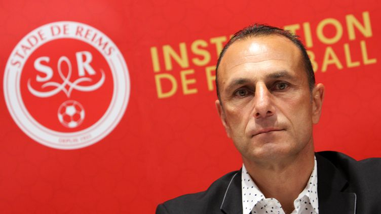Michel Der Zakarian, entraîneur du Stade de Reims. (ANTHONY SERPE / ANTHONY SERPE)